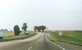 California Highway 99 in Tulare County. Source