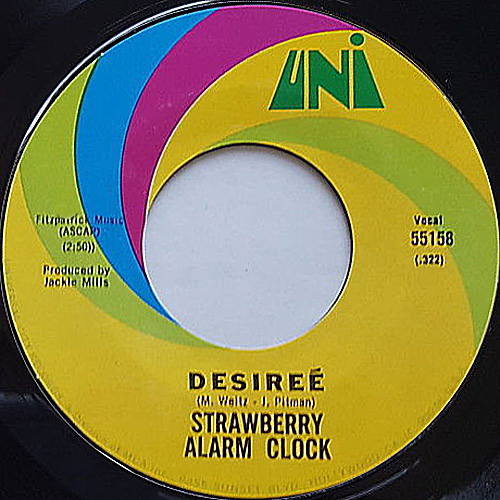 """Desireé"" by Strawberry Alarm Clock 45 rpm single"