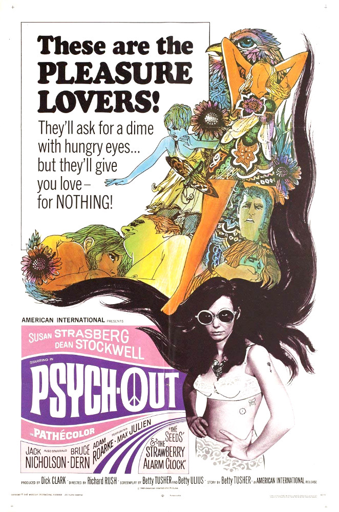 "Psych-Out (1968) movie poster ""These are the pleasure lovers!"""
